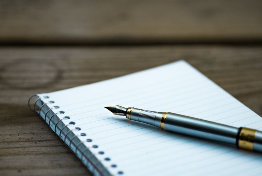 A notebook to write down writing advice